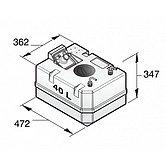 Жесткая пластиковая цистерна для дизтоплива на 40 л, с соединит. фитингами, топливный шланг 10 мм