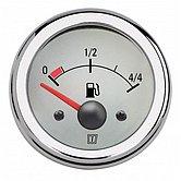 Индикатор уровня топлива, белый, 12 В, монт. отв. Ø 52мм (без датчика)