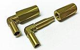 Комплект из двух угловых бронзовых концевых соединителей для шланга Ø 8 x 12 мм