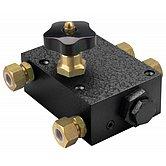 Ординарный невозвратный клапан с перепускным клапаном, с соединением для трубки Ø 15х18мм
