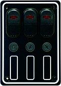 Панель выключателей 12В, 133 x 95 мм, 3 позиции