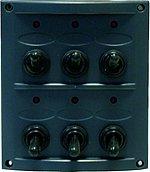 Панель выключателей 12 В, 110 х 124 мм, 6 позиций
