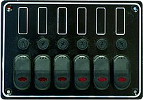 Панель выключателей 12В, 133 x 190 мм, 6 позиций