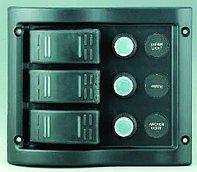 Панель выключателей 12 В, 130 х 110 мм, 3 позиции