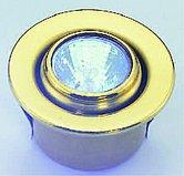 Галогенный потолочный врезной светильник, регулируемый, хромированный корпус