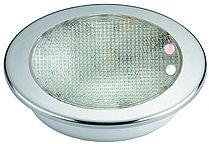 Светодиодный потолочный светильник, пластиковый корпус с окантовкой из нержавеющей стали
