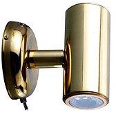 Светодиодный миниатюрный светильник для чтения, лакированная латунь