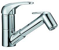 Смеситель с поворачивающимся изливом и ручным душем, 147 мм
