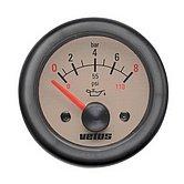 Индикатор давления масла кремовый, 12 В (0-8кг/см2), монт. отв. Ø 52 мм (без датчика)