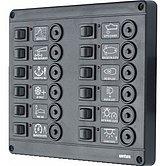 Панель выключателей P12 с автоматическими предохранителями 12 шт, 12 В