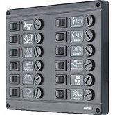 Панель выключателей P12 с предохранителями 12 шт, 12 В