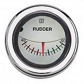 Индикатор положения руля, белый, 12/24 В, монт. отв. Ø 52мм (без датчика)