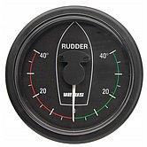 Индикатор положения руля черный, 12/24 В, монт. отв. Ø 107 мм (без датчика)