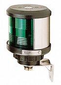 Бортовой зеленый ПБ, (боковое крепление), черный корпус (без лампочки)