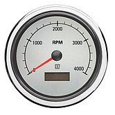 Тахометр/счетчик м.часов, белый,12/24 В,(0-4000об/мин), монт. отв. Ø 100мм