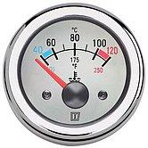 Индикатор температуры воды, белый, 24 В(40-120°C), монт. отв. Ø 52мм (без датчика)