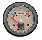 Индикатор температуры воды, кремовый, 24 В (40-120°C), монт. отв. Ø 52мм (без датчика)