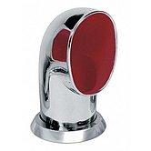 Головка вентиляционная Ø 100 мм, Tom, внутри красная, с кольцом и накидной гайкой