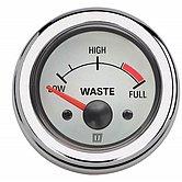Индикатор уровня сточных вод, белый, 12 В, монт. отв. Ø 52 мм (без датчика)