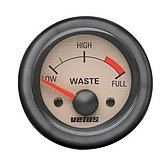 Индикатор уровня сточных вод, кремовый, 12 В, монт. отв. Ø 52 мм (без датчика)
