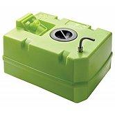 Жесткая пластиковая цистерна для питьевой воды на 60 л, с фитингами и крышкой лючка