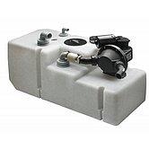Цистерна 120 л + насос 12В + датчик уровня + откачивающая труба + крышка лючка (без вх. угл.фитинга)